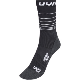 UYN Cycling Support Calze Uomo, nero/grigio